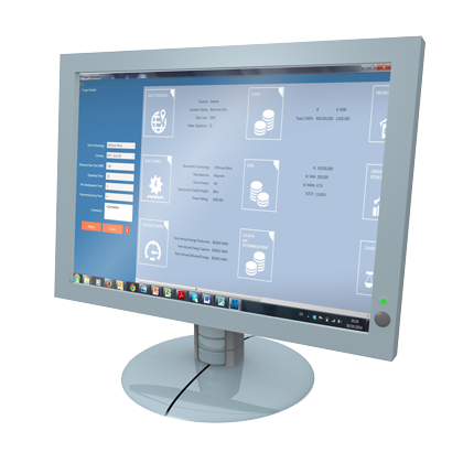 Monitor showing Exceedence software